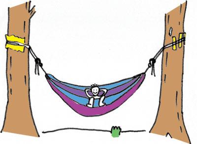 ハンモックの吊り方